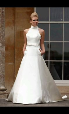 High Collar Wedding Dress Anniversary