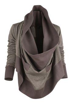 draped sweatshirt = cozy / so perfect for fall