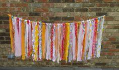 Fabric Rag Garland  Photography Prop scrap fabric by KnitCraftSew #photoprop