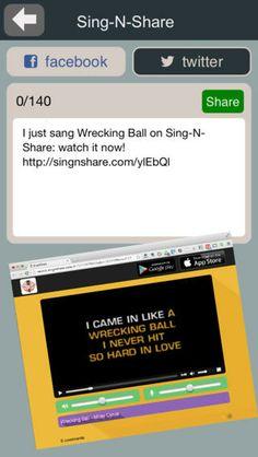 Sing-n-Share - Gratis IOS-app - syng Karaoke med din smartphone - 12000+ musikhits (inkl. sangtekster) at vælge imellem - optag og del dine sange med vennerne (App'en fås også til Android)