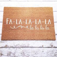 Deck The Halls Welcome Mat / Doormat, Door Mat, Gift, Large Doormat, Christmas Decor, Outdoor  // WM57