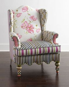 Summerhouse Wing Chair by MacKenzie-Childs at Horchow.