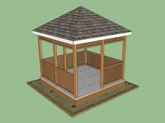 Free Plans to Help You Build a Wooden Gazebo: Free Wooden Gazebo Plan from How To Specialist