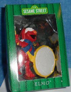 Sesame Street ELMO PLAYING HIS DRUM Christmas Ornament by Kurt ...