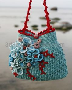 Crocheted bag The artist is Marianne S her blog is heegeldab.blogspo... her Etsy shop is www.etsy.com/...