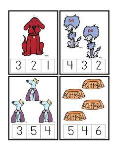 Preschool Printables: Clifford
