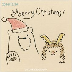 May the days be merry and bright Hedgehog Drawing, Hedgehog Pet, Cute Hedgehog, Christmas Doodles, Christmas Drawing, Merry Christmas, Easy People Drawings, Easy Drawings, Cute Doodle Art