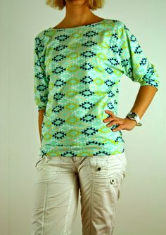 Ranelabel: Alicerendevous in mint Raglan Shirts, Diy Mode, Couture, Sewing Projects, Mint, Textiles, Chic, Sweaters, Clothes