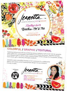 surtex 2013 postcard: jeanetta gonzales