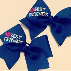 Matching BESTFRIEND Bows by ThingsToCheerAbout on Etsy, $18.00