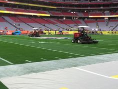 Toro Reelmasters prepping the game field for Super Bowl XLIX