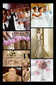 Inspiration 23:  Champagne Wishes, Pale Pink Dreams | colors: soft pink, champagne, mocha wedding