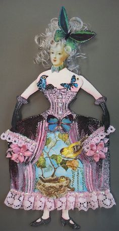 Marie Antoinette Paper Doll created with stamps from Inner Child and Belle Epoque collections from Character Constructions