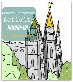 General Conference activities. {this has the best toddler activity book that i've found.}