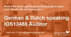 Get a good salary package, bonus and your company car! You have the choice to work in The #Netherlands or in #Germany! Check this out: http://www.approachpeople.com/international/job-description/?id_job=14130