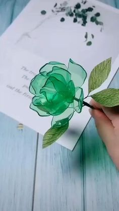 Paper Flowers Craft, Paper Crafts Origami, Origami Art, Diy Flowers, Origami Flowers, Plastic Bottle Crafts Flowers, Plastic Bottles, Plastic Spoon Art, Paper Bag Crafts
