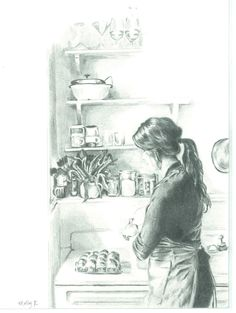 Drawing of Yossy Arefi of Apt. 2B Baking Co. by Molly Reeder