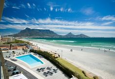 Lagoon Beach Hotel and Spa Beach Venue in Milnerton. Situated along the Atlantic Ocean beachfront with breathtaking views of Table Mountain & Robben Island Wonderful Places, Great Places, Places To See, Beautiful Places, Beautiful Hotels, Uganda, Cape Town Wedding Venues, Cape Town South Africa, Table Mountain