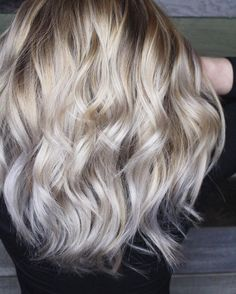 Here is the AFTER from my previous video!  Formula// Wells freelights  B3 | shadeseq 9v  9t {I love adding just a splash of the 9t to my formula...it is just enough to get to that platinum white but not quite silver range} #kmstylist Love! Hair by Kimberly Marie Stylist