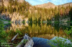 Scenic Idaho, West Central, Seven Devils Mountains. Alpine Lake near the Seven Devils Campground in summer. | Photo by Linda Lantzy