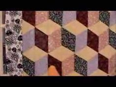 Free Tumbling Blocks Quilt Pattern Video Instructions