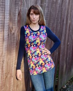 @5outof4patterns posted to Instagram: I love a good long sleeve tee! It's perfect when the weather is a little chilly, but not cold enough for a thick sweater! The Michelle Fitted Tee pattern makes a great long sleeve tee! It's fitted through the bust, waist, and hips, which makes it great for layering, too! #5outof4patterns #pdfsewingpatterns #5oo4 #pdf #isew #sewcialists #handmadewardrobe #sewing #sew #sewingproject #fabric #sewforkids #sewforboys #sewforgirls #handmadeclothing #isewmyownclot Fall Sewing, Thick Sweaters, Pdf Sewing Patterns, Handmade Clothes, Pattern Making, Layering, Floral Tops, Long Sleeve Tees, Weather
