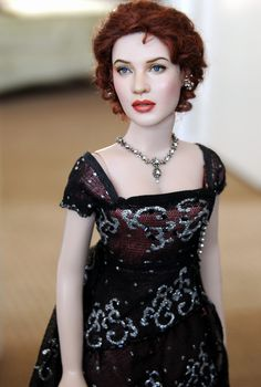 OOAK Franklin Mint doll art repaint KATE WINSLET as ROSE- TITANIC by NOEL CRUZ