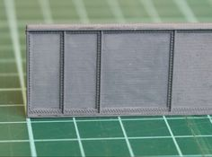 N Scale Deck Girder 3d printed Detail picture to show the rivets N Scale Trains, 3d Prints, Model Trains, Deck, Printing, Detail, Design, Front Porches