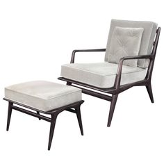 Sculptural Lounge Chair and Ottoman by Carlo di Carli | From a unique collection of antique and modern lounge chairs at https://www.1stdibs.com/furniture/seating/lounge-chairs/