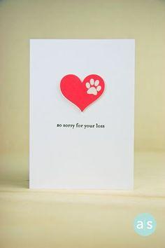 Pet sympathy card, a muse studio