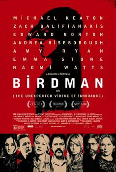 Birdman- so deserving of this years Academy Award. Beautiful broken characters in such a broken story...gloriously patched together. Loved it!