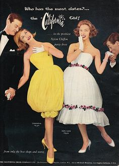 Nylon Party Dresses 1950s