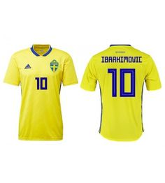 Adidas Sweden 2018 Authentic Home Jersey Yellow Mystery Ink Manchester United, Sweden, Mystery, Adidas, Yellow, Sports, Vm, Tops, Sport
