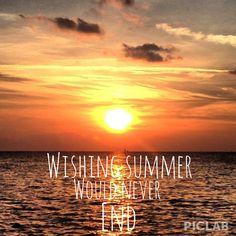 Wishing summer never ended.