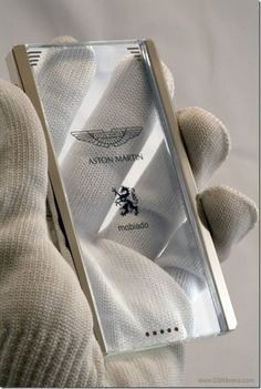 Transparent phone by Aston Martin and Mobiado