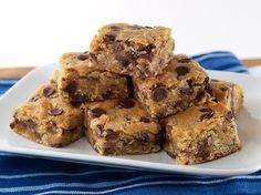 Chocolate Chip Cardamom Oat Blondies from Kelly @ Evil Shenanigans...........oh YES PLEASE.........