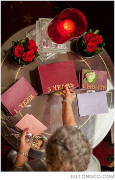 Letters to the bride and groom for their anniversaries