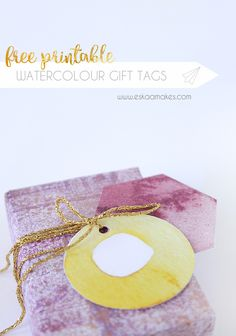 free printable watercolour gift tags