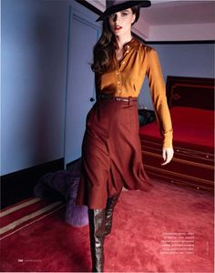 Anouck Lepere by Asa Tallgard in Gucci for Elle Russia November 2011