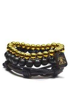 3 Pack Leather/Bamboo/Hemetite – Tag Twenty Two #men'sjewelry