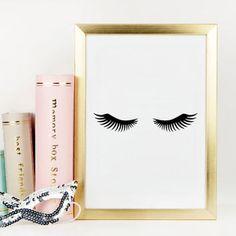 LASHES DIGITAL ART,Lashes Print,Bedroom Wall Art,Bathroom Print,Makeup…