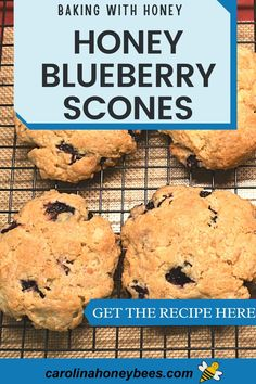 Eating Raw, Healthy Eating, Cooking With Honey, Blueberry Scones Recipe, Honey Recipes, Raw Honey, Baking, Breakfast, Desserts