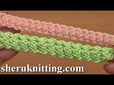 How to Crochet Romanian Point Lace Cord Tutorial 94 - YouTube