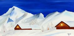 Isabel Monfort. Pirineo Aragones, Pico ANETO.Realizado a oleo sobre lienzo y soporte tridimensional.Medidas 100 X 50 Cm