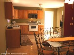 good colors for Kitchen Walls with oak cupboards | Kitchen Cabinets Before