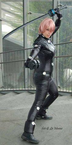 Anime: Gantz. Character: Kei Kishimoto. Cosplayer: Guilia Presti 'aka' Ivy Cosplay. from. Italy. Event: Cartoomics 2009. Photo: G La Manna