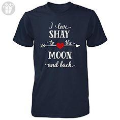 I Love Shay To The Moon And Back.gift For Boyfriend - Unisex Tshirt Navy 4XL - Birthday shirts (*Amazon Partner-Link)