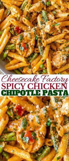 Chipotle Chicken Pasta, Spicy Pasta, Penne Pasta, Chicken Asparagus Pasta, Chicken Alfredo, Chicken Rice, Pollo Chipotle, Pasta Dishes With Chicken, Al Dente
