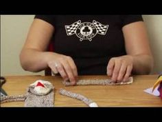 How to Make a Monkey Sock Puppet : How to Cut Out Ears of Sock Puppets