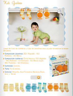 Kit de Gateo/ 1 par de rodilleras y 1 par de calcetines/ 9 a 12 meses/ 5 colores